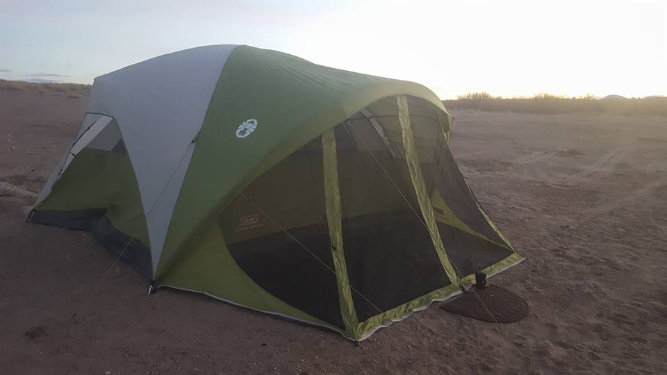Awesome Coleman tent with a porch and large rain fly. Lots of space to shelter from the rain. & Packing for Alaska: Tent and Screenhouse | Janeu0027s Journals